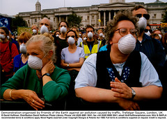 3.25/49 (hoffman) Tags: air asthma atmosphere breathing demonstration exhaust female foe fumes horizontal lady mask outdoors polluted polluting pollution protest protesting smog street woman women 181112patchingsetforimagerights london uk