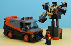 Autobot Clubber (Hobbestimus) Tags: lego moc 80s toys ateam babaracus transformers van