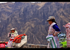 Exploring Peru's Epic Colca Canyon (Sam Antonio Photography) Tags: colcacanyon trek hike nationalpark outdoors latin peru peruvian south inca incan america indian traditional culture native tradition tourism clothing female colorful andes women andean dress hat people rural indigenous local travel color old authentic quechua weaving textiles poverty colorfulpattern