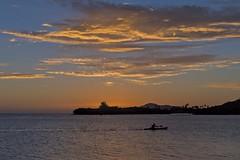 Kayak at Sunset (Fletch in HI) Tags: nikon d5600 tamron 16300 oahu hawaii hawaiikai sky sunset boats people clouds water ocean kayak