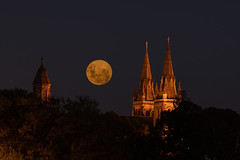 Full moon of St Peter's Cathedral (dmunro100) Tags: moon cathedral st peters adelaide summer southaustralia stpeters full