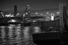 Southwark Bridge (cybertect) Tags: bankside beethamtower carlzeissplanart50mmf14mm cityoflondon london londonse1 riverthames se1 sonya7ii southwark southwarkbridge tatemodern walbrookwharf bridge night river skyscraper water