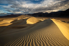 Line Light (Chris Ewen Crosby) Tags: death valley national park sand dune texture light textures clouds dramatic view desert arid dry sunrise dawn california travel destinations dunes