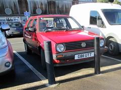 1990 VW Golf CL (occama) Tags: g811utt vw golf cl 1990 red old car cornwall uk german volkswagen