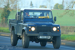 Land Rover Defender YX03 BBD (SR Photos Torksey) Tags: land rover defender 4x4 pickup road transport traffic commercial vehicle