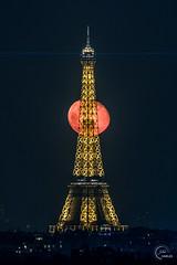 Moon alignment with Eiffel Tower (Julien CHARLES photography) Tags: eiffel eiffeltower france paris toureiffel moon supermoon