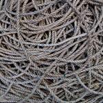 Au port, nœuds de cordes, Ullapool, Ross and Cromarty, Ecosse, Grande-Bretagne, Royaume-Uni. thumbnail