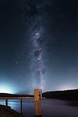 Summer Milky Way - Serpentine Dam, Western Australia (inefekt69) Tags: milky way serpentine dam tower reservoir water skytracker ioptron cosmology southern hemisphere cosmos western australia dslr long exposure rural night photography nikon stars astronomy space galaxy astrophotography outdoor 50mm d5500 panorama stitched mosaic msice hoya red intensifier didymium filter carina nebula etacarinae airglow sky summer coal sack