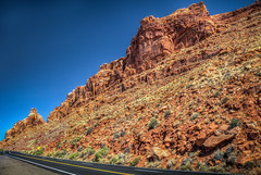 U.S. Highway 89 and mountains near Bittersweet, AZ (donnieking1811) Tags: arizona page bittersweet ushighway89 highway landscape mountain rocks outdoors sky blue hdr canon 60d lightroom photomatixpro