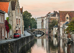 Old buildings with canal in Bruges, Belgium (phuong.sg@gmail.com) Tags: belgian bruges flemish beautiful belgium bridge canal channel cityscape colorful daylight embankment europe european famous flanders house journey landmark landscape nature outdoors park picturesque plant quay reflection region river scenic sights sightsview sightseeing street summer sunny tourism town travel tree view water