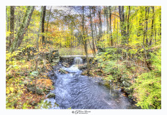 Land Of Fairies (Pearce Levrais Photography) Tags: canon hdr landscape tree trees forest autumn autumnal foilage stream waterfall water dam stone plant rock beauty outside outdoor nature explore nh newhampshire tourism