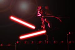 LEGO Ffffkrrrshhzzzwooooom Darth Vader (40gOingOn4!) Tags: lego star wars darth vader maul lightsaber battle red minifigure minifigures toy toys nikon d7100 105mm macro rob robert trevissmith uk
