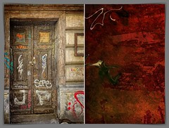 the truth lies behind closed doors (kazimierz.pietruszewski) Tags: abstraction abstract form composition digipaint digitalart graphic colorful border diptych 21