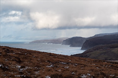 First Glimpse of Sandwood Bay (fixedfocallength) Tags: clouds gx9 lumix mft microfourthirds panasonic sandwoodbay scotland snow waves winter m43 leicasummicronm50mm