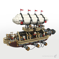 Imperial-Airship-Bricktania-Harris-Bricks-001 (HarrisBricks) Tags: lego moc custom steampunk ship airship zeppelin