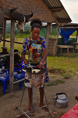 Rolex (pbr42) Tags: africa uganda queenelizabethnationalpark nationalpark hdr water lake crater tree mud people woman rolex cooking food outdoor