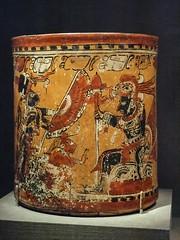Vase with warriors and captive, Chama style, Late Classic Maya, 600-800 CE Mexico. (mharrsch) Tags: maya vase warrior captive prisoner mexico deyoungmuseum sanfrancisco california mharrsch lateclassicperiod