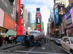 2019 Celebration of Retro TWA Hotel - Wingless Plane Times Square 4512 (Brechtbug) Tags: 2019 celebration retro twa hotel brooklyn wingless 1958 lockheed constellation connie l1649a starliner airplane visits times square before heading trans world airlines new yorks john f kennedy international airport known york anderson field commonly idlewild city march 23rd nyc 02232019