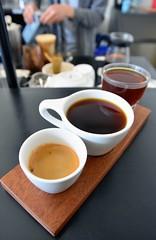 Horizon Line Coffee (jpellgen (@1179_jp)) Tags: ia iowa midwest usa america march spring 2019 nikon sigma 1770mm travel roadtrip foodporn food desmoines downtown coffee flight tanzanian drink drinkporn morning horizonlinecoffee