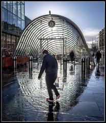 16/365 A sunny rainy day in Glasgow (B Ryder) Tags: nikon d500 16200mm glasgow sunshine rain subway street photography blue skies architecture station st enochs