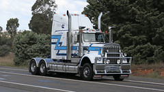 The Good Ole Boys (1/3) (Jungle Jack Movements (ferroequinologist) all righ) Tags: good old ole boys kenworth k k123 k120 w924 hauling haulin hume 2019 sydney yass highway vintage historic historical run tnm interstate express hp horsepower big rig haul haulage freight cabover trucker drive transport delivery lorry hgv wagon road nose semi trailer deliver cargo vehicle load freighter ship move roll motor engine power teamster truck tractor prime mover diesel injected driver cab loud beast wheel exhaust double b veteran chrome convoy hcvca