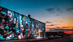 A great mural by @iameelco in Jackson as part of the @brightwalls . . . #mural, #jacksonmi #iameelco #sunrise (luissaenz_com) Tags: sunrise mural iameelco jacksonmi michigan lumixg9 lumixusa