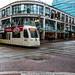 A New Siemens S70 Crosses A Wet Portland Street On #Trimet MAX Red Line