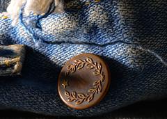 Macro Mondays --Cloth-- (sunrise25) Tags: macromondays cloth kleidung jeans knopf button clothes blau bluejeans nikon d800 nikond800 nikkor macro makro nikkor105mmf28 28 105mm sunrise25