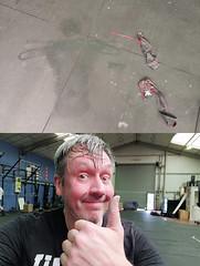 January 26th 2019 - Project 365 (Richard Amor Allan) Tags: wittman wod crossfit exercise gym sweat sweaty sweatymess smile thumbsup selfie sweatangel project365