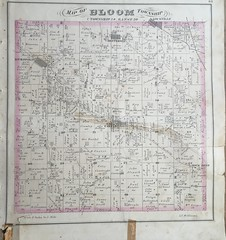 Bloom Township 1875 (ddsiple) Tags: oldmap ohio lithopolis 1875 map bloomtownship