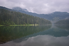 Montenegro - Durmitor National Park - Crno Jezero (Harshil.Shah) Tags: durmitor national park zabljak montenegro europe balkans žabljak durmitornationalpark crno jezero crnojezero black lake reflection tree trees forest mist misty fog cloud mountain water reflections countryside nature rain