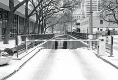 Underground Loading Dock Entrance (Bill Smith1) Tags: believeinfilm billsmithsphotography canonnewf1 fdn50f14lens hc110b heyfsc kodaktrix4001600 toronto