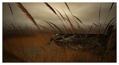 Shipwrecked (Saga Mea) Tags: boat ship landscape sl secondlife 3d 3dart virtualworld digitalart chesapeakebay