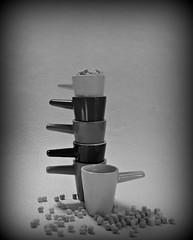 2019 Sydney: B&W Espresso Cups (dominotic) Tags: 2019 espressocups coffee coffeeobsession food lolly confectionery miniflorals drink bw foodphotography blackandwhite yᑌᗰᗰy sydney australia