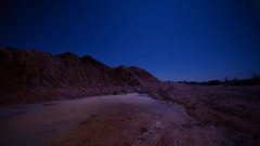 MarsSee (MikeSolfrank) Tags: nacht sterne mond marslandschaft outside nature light art sky winter night lake river blue