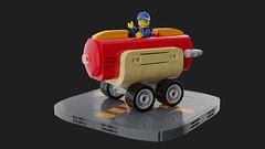 Frebrovery 2019: Hotdog (David Roberts 01341) Tags: lego ldd mecabricks hotdog car rover vehicle minfigure