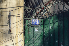 24 (mrmeezoid) Tags: numbers abstraction fence gate wall shadows cables number 24 abstract shapes patterns shadow vietnam travel asia hanoi rust flake paint flaky ironwork study cool cool2 cool3 uncool uncool2 uncool5 uncool6 uncool7 c3u7