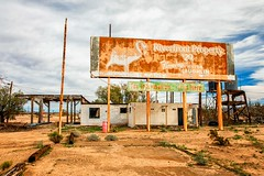 For Information Stop Here (KPortin) Tags: route66 california billboard hss abandonedbuilding deteriorated signs essex historic themotherroad