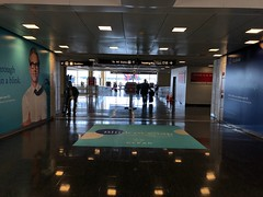 Airport floor graphic for Clear Channel