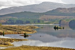 A beautiful calm and sunny day. (artanglerPD) Tags: calm loch reflections trees mountain snow