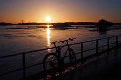 2019 Bike 180: Day 38, February 25 (olmofin) Tags: 2019bike180 finland bicycle polkupyörä sunrise auringonnousu sea meri jää ice lumix 20mm f17