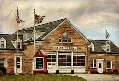 Fire Station (Terry Pellmar) Tags: texture digitalart digitalpainting kensington flags building firedepartment