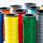 Multicolor sewing threads background thumbnail