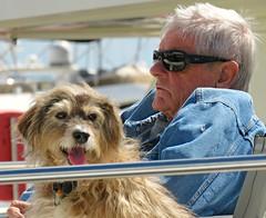 One Man And His Dog! ('cosmicgirl1960' NEW CANON CAMERA) Tags: marbella spain espana andalusia puertobanus costadelsol travel holidays blue boats sky yabbadabbadoo