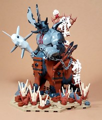 Brayherd Faction Lord: Gourocaur the Great Beast (WarScape) Tags: warscape fantasy medieval army lord lego brayherd beast minifigure custom