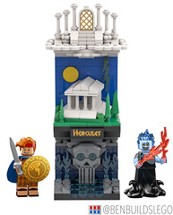 "Disney's ""Hercules"" Lego (Vertical) Skyline"
