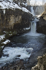 White Falls and Celestial Falls, Oregon (icetsarina) Tags: celestialfalls whitefalls oregon water river rocks snow winter