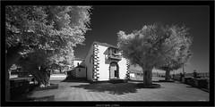 church of Tijarafe, La Palma (Dierk Topp) Tags: a7r bw ilce7r ir laowa1018mmf4556fezoom sonya7r sonya7rir architecture canaryislands churches infrared islascanarias lapalma monochrom sw sony
