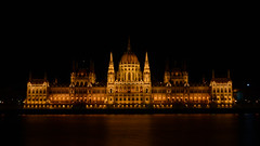 Hungarian Parliament at Night (BenedekM) Tags: parliament hungary hungarian night danube river city capital architecture nikond3200 long exposure