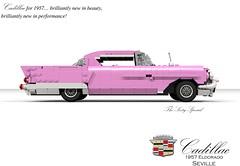 Cadillac 1957 Eldorado Seville (lego911) Tags: cadillac eldorado seville coupe hardtop 1957 1950s classic v8 fins chrome harley earl luxury usa america american auto car moc model miniland lego lego911 ldd render cad povray